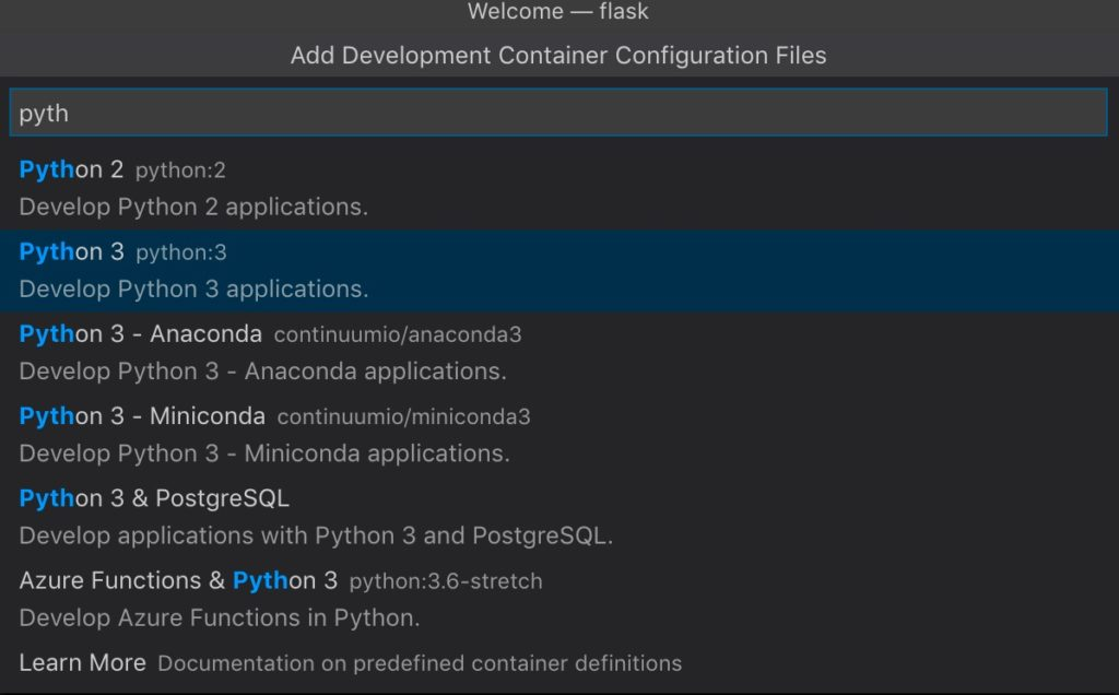 VSCode remote-container: getting started with Python | Agile